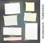 torn note  notebook  copybook... | Shutterstock .eps vector #716824342