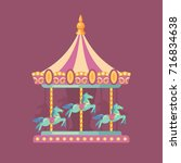 funfair carnival flat... | Shutterstock .eps vector #716834638