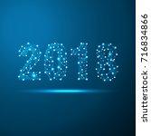 geometric polygonal 2018 new... | Shutterstock .eps vector #716834866