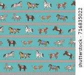 horse doodle illustration... | Shutterstock .eps vector #716835022