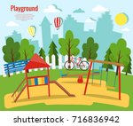 children's playground | Shutterstock .eps vector #716836942