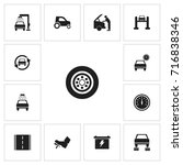 set of 13 editable car icons....