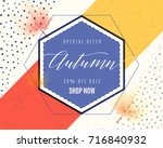 vector illustration of fashion... | Shutterstock .eps vector #716840932
