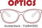 glasses optics | Shutterstock .eps vector #716844502