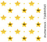star with faces  seamless... | Shutterstock .eps vector #716844565