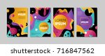 set of colorful trendy card.... | Shutterstock .eps vector #716847562