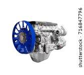 modern heavy duty truck diesel... | Shutterstock . vector #716847796
