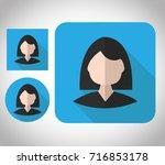 flat icon female design account ... | Shutterstock .eps vector #716853178