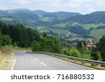 view of the asphalt road and a...   Shutterstock . vector #716880532
