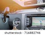 the car panel navigation | Shutterstock . vector #716882746