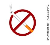 no smoking cigarette tobacco... | Shutterstock .eps vector #716883442