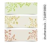 background autumn leaves | Shutterstock .eps vector #716893882