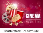 cinematograph concept banner... | Shutterstock .eps vector #716894332