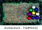 copy space christmas background ... | Shutterstock . vector #716896522