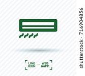 conditioner minimal vector icon.... | Shutterstock .eps vector #716904856