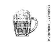 beer in dimpled mug. vector... | Shutterstock .eps vector #716905936