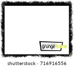 grunge frame   abstract texture.... | Shutterstock .eps vector #716916556