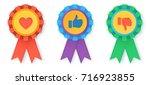 flat style vector like and... | Shutterstock .eps vector #716923855