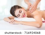 luxury lady relaxing massage... | Shutterstock . vector #716924068