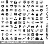 100 lending skill icons set in... | Shutterstock .eps vector #716927275