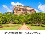 sigiriya rock or lion rock is... | Shutterstock . vector #716929912