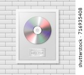 realistic vector cd and label... | Shutterstock .eps vector #716935408