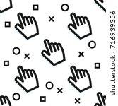 clickbait. cursors of the hand... | Shutterstock .eps vector #716939356