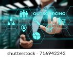 outsourcing human resources... | Shutterstock . vector #716942242