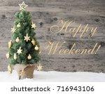 golden decorated christmas tree ... | Shutterstock . vector #716943106