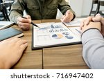 business meeting office.... | Shutterstock . vector #716947402