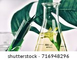 natural organic extraction and... | Shutterstock . vector #716948296