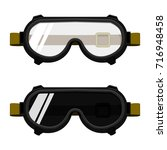 isolated chemical goggles and... | Shutterstock .eps vector #716948458