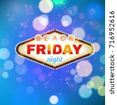 black firday retro light frame... | Shutterstock . vector #716952616