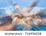 hands were a collaboration... | Shutterstock . vector #716956528
