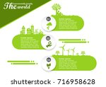 environmentally friendly world... | Shutterstock .eps vector #716958628