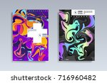 fluid color covers set.... | Shutterstock .eps vector #716960482