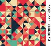 abstract modern pattern... | Shutterstock .eps vector #716960692