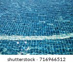 top view  beautiful blue... | Shutterstock . vector #716966512
