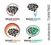 brain logo vector eps 10 | Shutterstock .eps vector #716967802