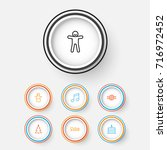 new icons set. collection of... | Shutterstock .eps vector #716972452