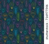 cute seamless pattern of... | Shutterstock .eps vector #716977546