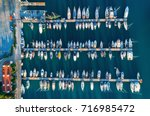 aerial view of amazing boats at ... | Shutterstock . vector #716985472