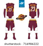 basketball uniform  shorts ... | Shutterstock .eps vector #716986222