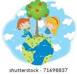 arbor day   Shutterstock .eps vector #71698837