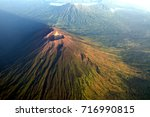 mount agung view from an air...