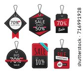 set of sale banner. sale labels ... | Shutterstock .eps vector #716991928