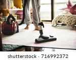 house hygiene cleaning vacuum... | Shutterstock . vector #716992372