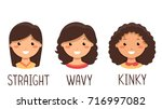 illustration of kid girls with... | Shutterstock .eps vector #716997082