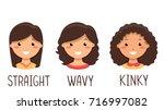 illustration of kid girls with... | Shutterstock .eps vector #716997082