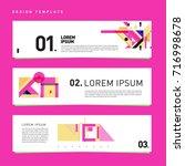 vector set of abstract banner... | Shutterstock .eps vector #716998678
